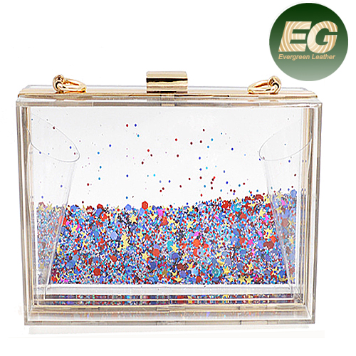2017 Clutch Style and clear acrylic evening bags clutch bag transperant box bags China supplier EB657