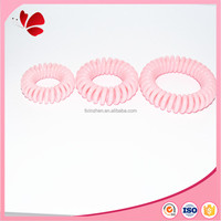 new trend baby pink telephone cord type of hair accessories