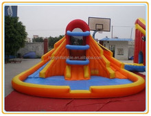 Hot sale inflatable water slide with pool,mini inflatable slide child play games toy,commercial slip slide