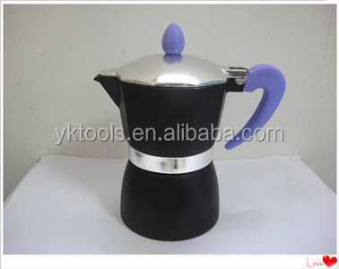colored aluminum coffee maker