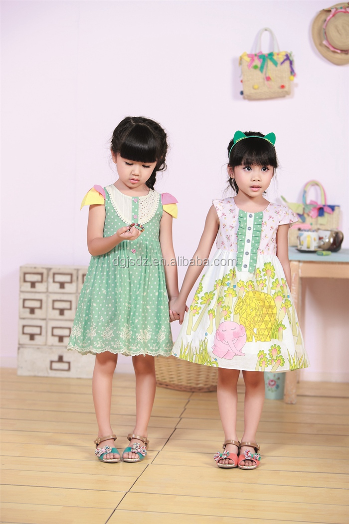 Modern New Model Girl Dress 2015 Korean Version Children