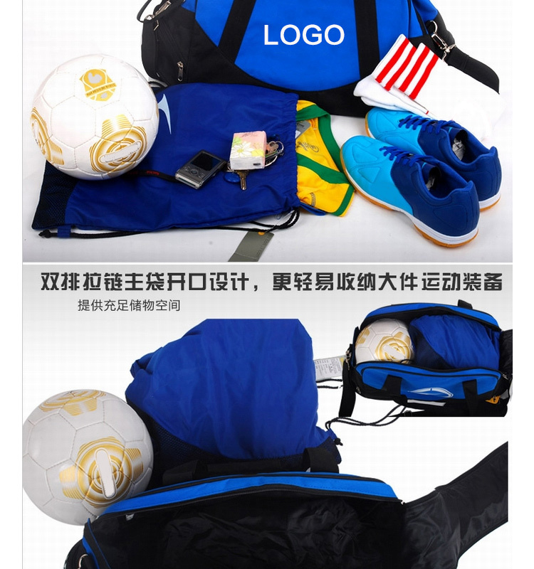 High quality cool black sling gym outdoor boy sport travel carry duffel bag