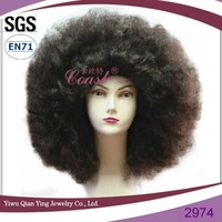 Halloween big synthetic curly afro party hair wigs for black women