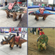 Artificial High Simulation Walking Dinosaur Ride For Kids