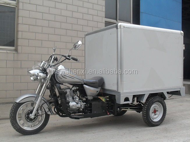200cc Big Power China Cloesd Box Motorized Three Wheel Cargo Tricycle Motorcycle For Sale