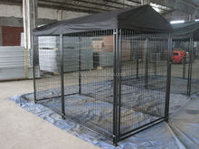 New Design 1.5m*3m*1.8m (W*L*H) Hot Dipped Galvanized Or Powder Coated Large Dog Kennel Outside