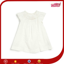 simple fruits fancy new baby girls style south white cotton eyelet fabric dress materials costumes wholesalers for kids photo