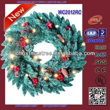 High Quality 12 Inch Artificial Christmas Wreath Wholesale Christmas Decoration Supplies