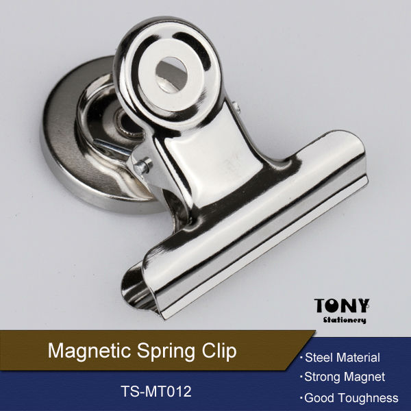 Small Magnetic stainless steel metal spring clip