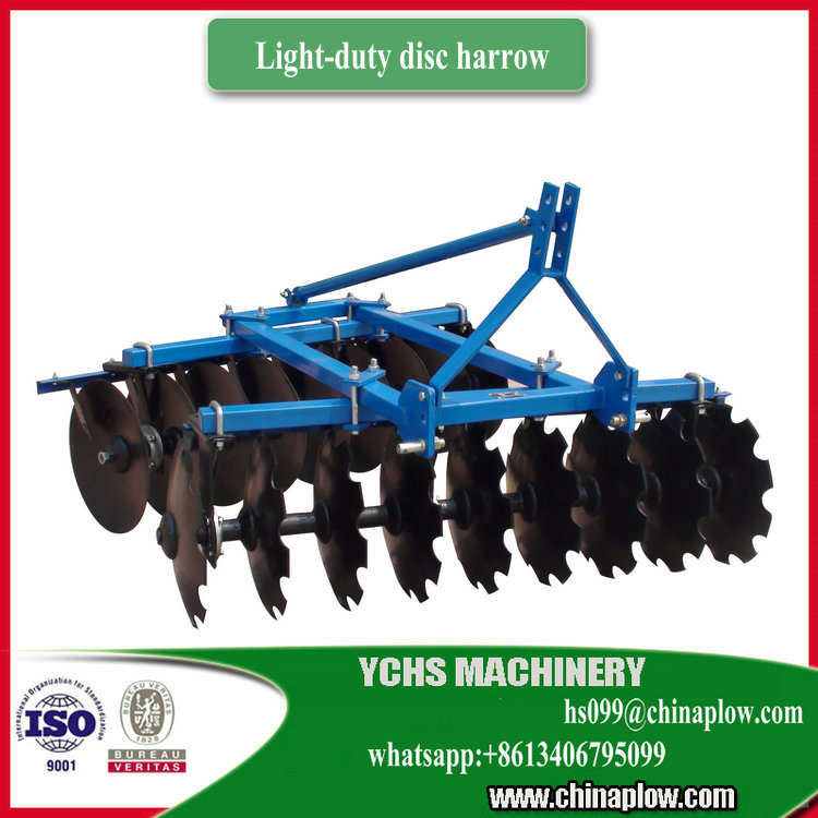 Ploughing machine light duty disc harrow for Foton tractor
