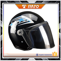 Well made black cool half face motorcycle helmet