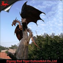 Outdoor life size fiberglass dragon for sale