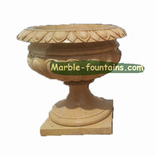 garden decorative marble stone beige flower pot