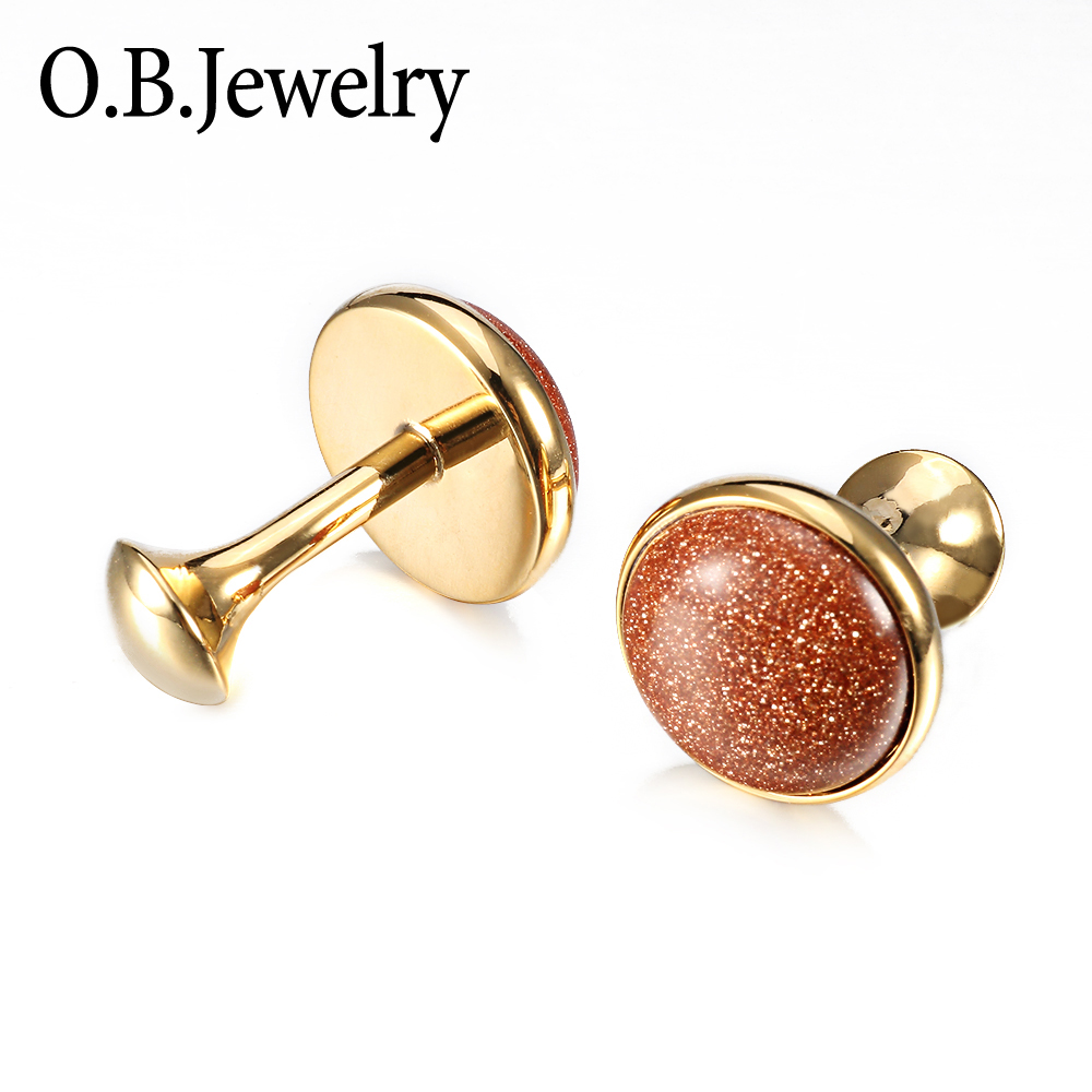 OB Jewelry-Online Wholesale Brass Material Letter Cufflinks For Gentleman