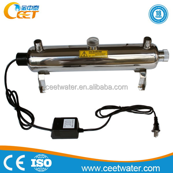 UV light sterilizer for drinking water plant