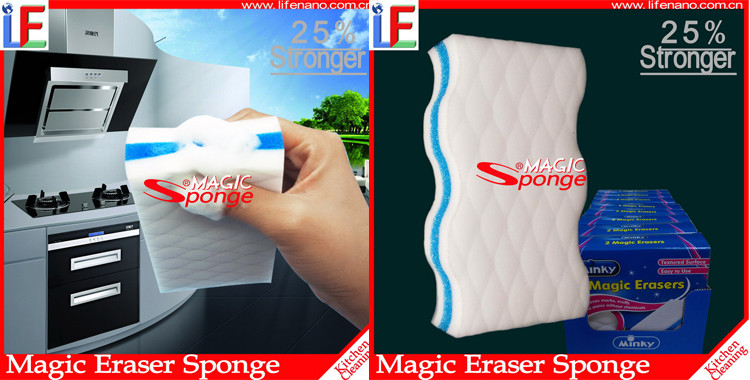 Kitchen Accessories Cleaning Melamine Sandwich Magic Sponge with Soap