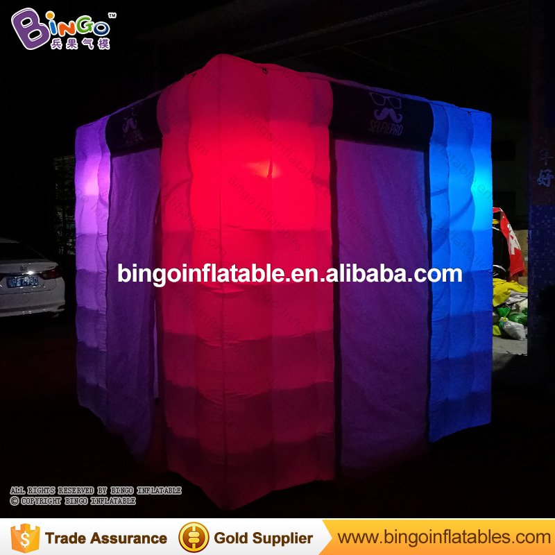 New product digital lighting wedding photobooth inflatables with led