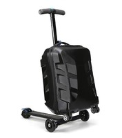 multi-function hot selling pc eva luggage 2015 travel luggage suitcase scooter with three wheels