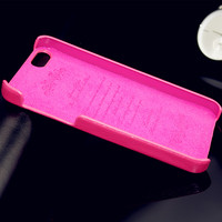 Luxury novel new lichee skin back cover luxury real leather hard case for iphone 5 5s