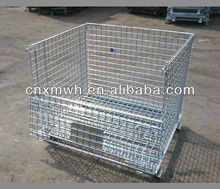 Foldable collapsible metal wire basket