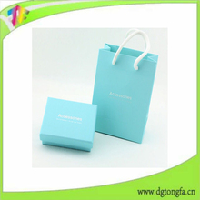 Paper packaging set earring cards packaging box jewelry paper bag in china