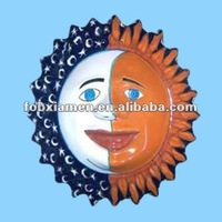 Unique Ceramic Sun Face Wall Decoration