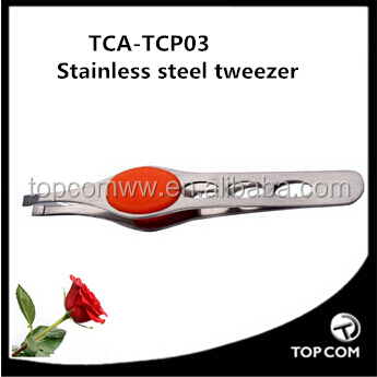 High-Quality Stainless-Steel Precision Eyebrow Tweezers/smart tweezer with rubber tip