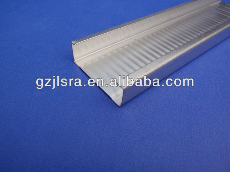 Direct sell aluminum furring channel & t bar profile /stud and track in high quality with low price in thailand