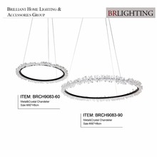 New products Led Round rock chandelier with bead for villa hotel home decoration