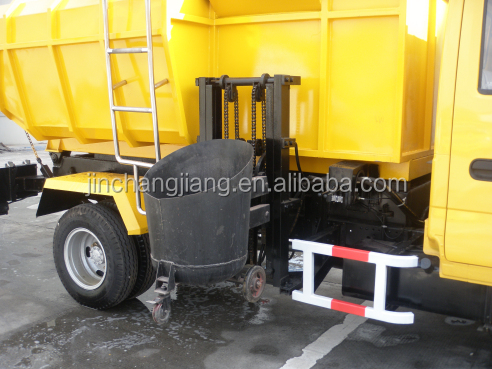 7 ton Isuzu Side Loader Sludge Collecting Garbage Dump Trucks