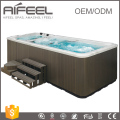 CE ROHS approved freestanding massage swim spa pool hot tub balboa control system acrylic outdoor swimming pool