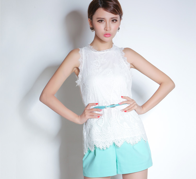 China wholesale huilin apparel clothing sleeveless woven tops and blouses for women 2016