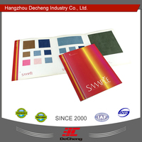 Fabric color display card printing
