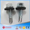 White Zinc Plated Roofing Screw Drilling BSD Point With Black Rubber Bone EPDM Washer