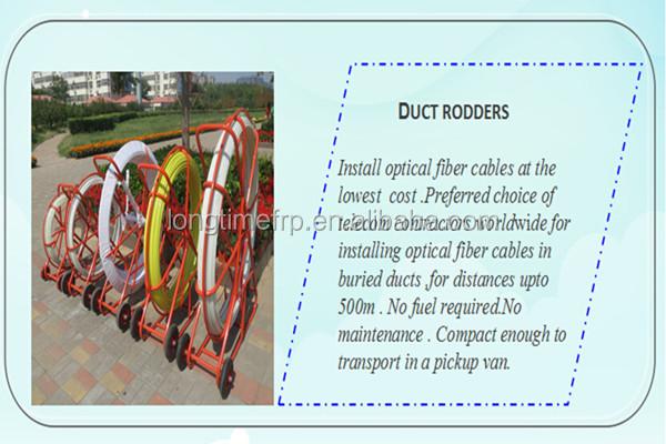 Frp duct rodder rodding fiberglass snake glass fiber