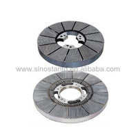 Disc refiner plates for refining waste paper pulp