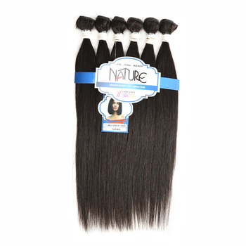 Sleek straight human hair bundles 6 in 1 big package virgin indian hair 7A non remy hair cheap