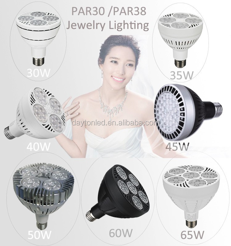 SZDAYTON New Economical PAR30 25W 30W 40w PAR38 50W 60W Led PAR30 PAR38 8000K 9000K 10000K Jewelry Display Lighting