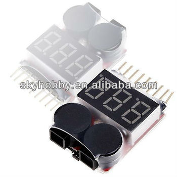 8S Lipo Battery Voltage Tester and Low Voltage Buzzer Alarm For RC Lipos
