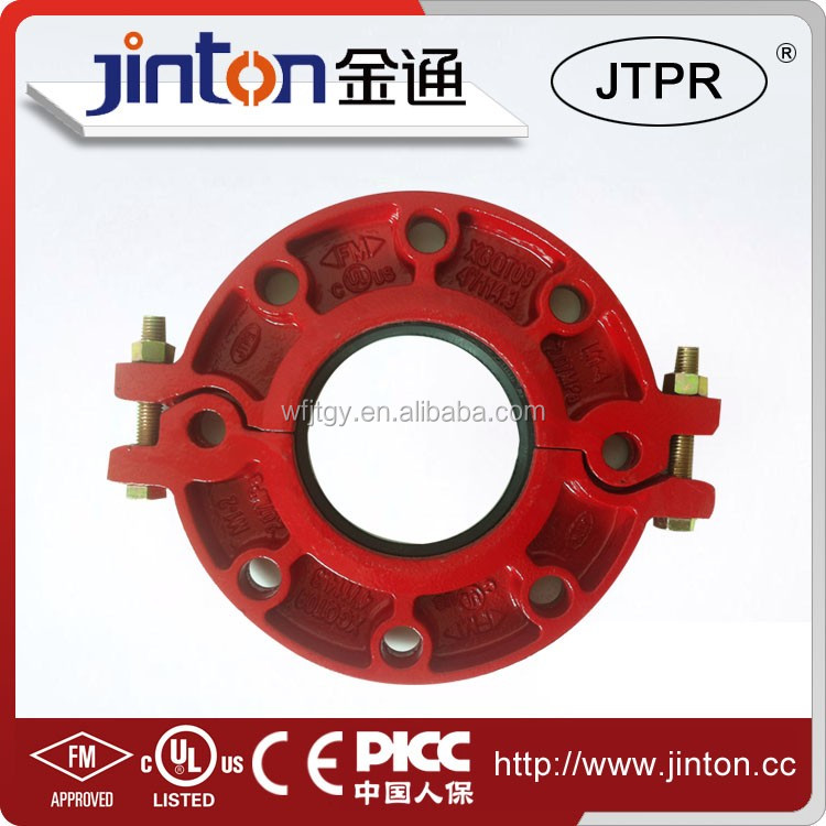 FM UL certificated Ductile Iron Pipe Fittings adaptor flange