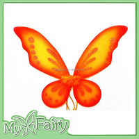 FW-30818SL Hot Sale Orange Butterfly Wing for Baby Decoration
