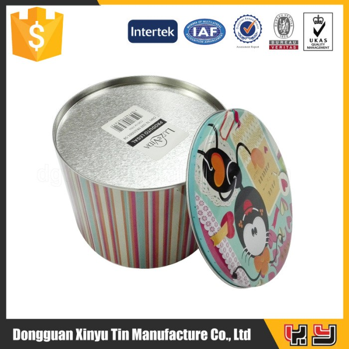 Hot Sale Round Custom Color Printing Biscuit Tin Box Wholesale