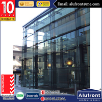 house plans curtain wall profile with glazed glass for sale