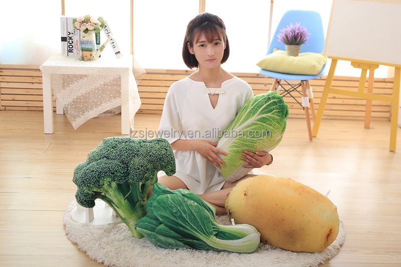 50cm Wholesale Vegetable Shaped Pillow 3D Printed Pillow Potato Onion Funny Shaped Pillow