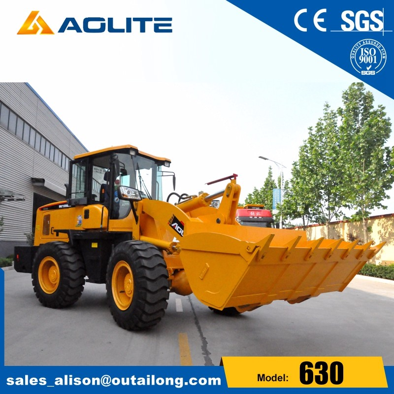 front end loader tractor with screening bucket