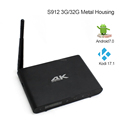 Cloudnetgo metal house Amlogic S912 chipset Bluetooth 4.0 google play store apps download free android 6.0 smart TV Box C9 4K*2K