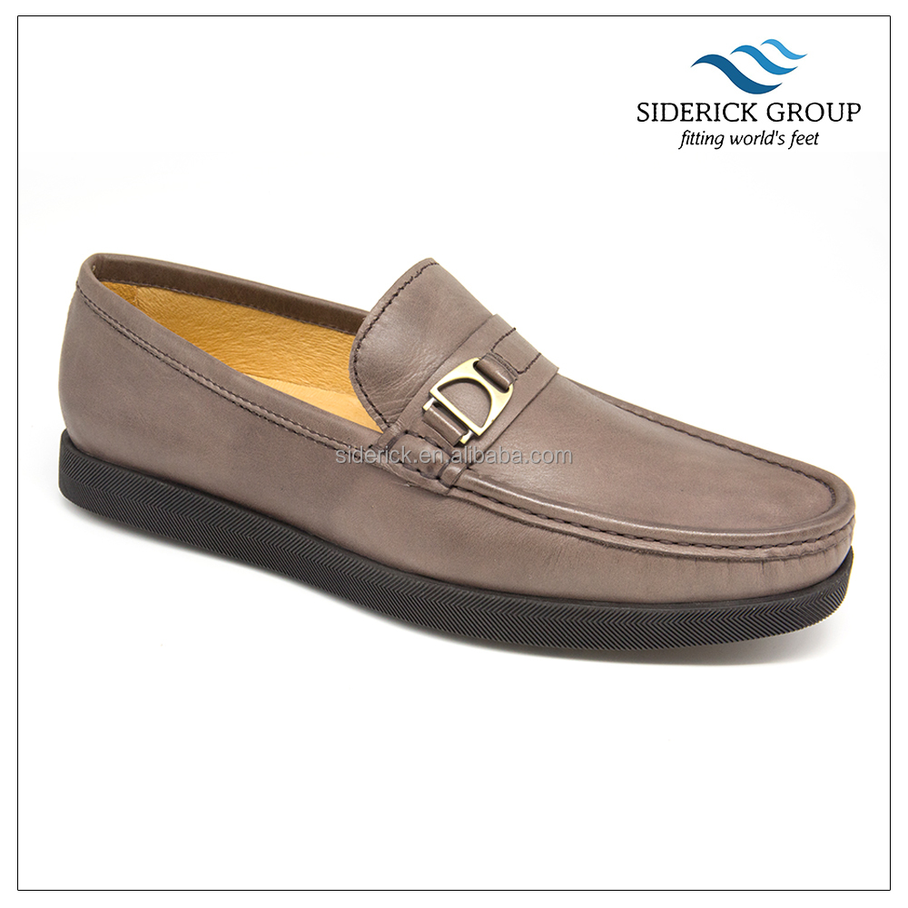 brand name stylish craft leather loafers shoe men casual