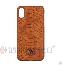 2018 New product POLO Crocodile stripes case for Iphone X PU Back cover case for Iphone X ST-279