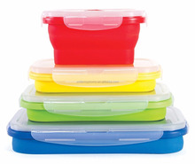 Silicone Collapsible Bins Square Silicone Food Storage Containers