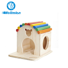 Wooden Color Portable Small Portable Pet Houses & Pet Cage